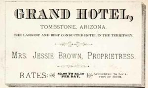 Tombstone Arizona Ghost Tours